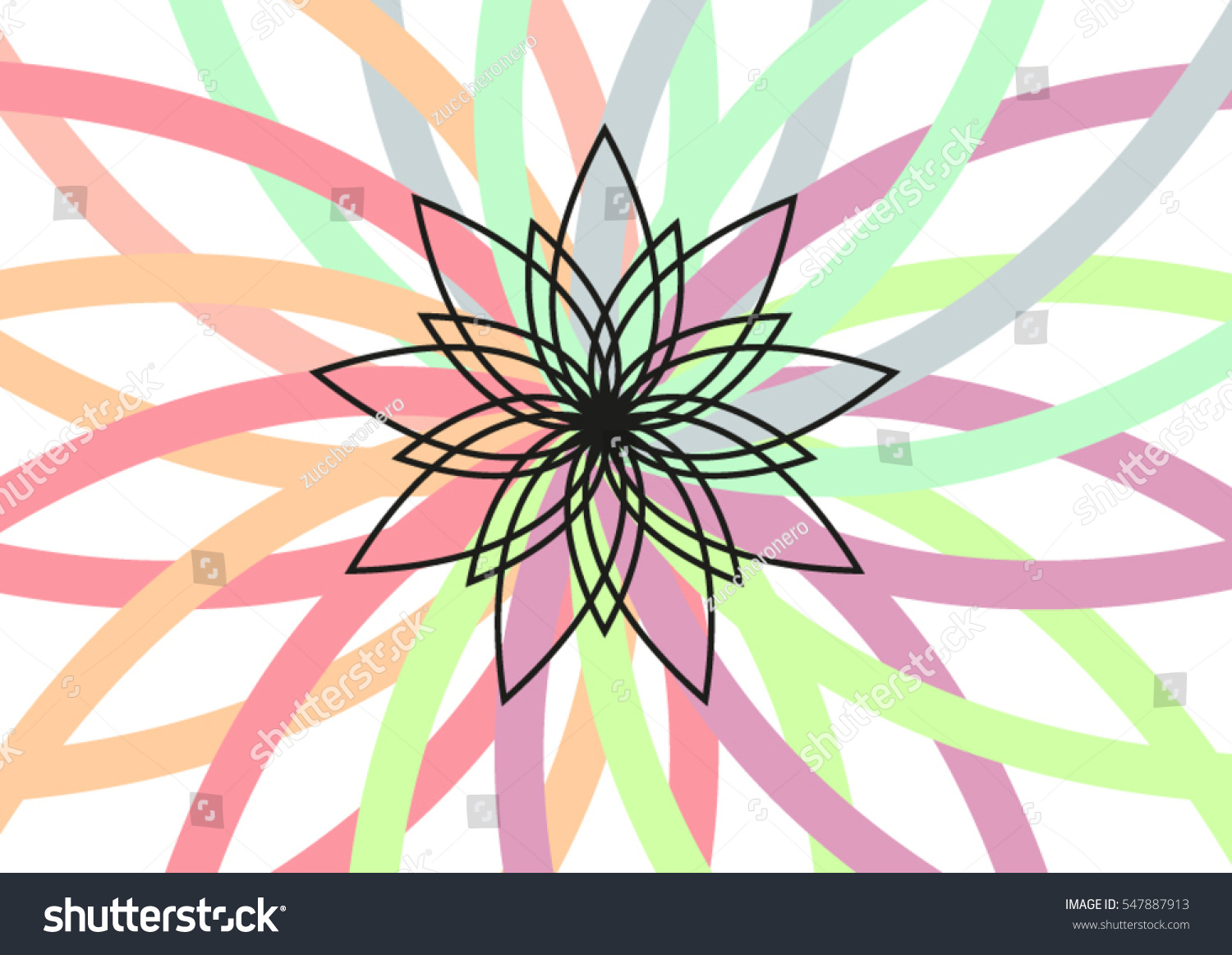 Lotus Flower Colorful Background Vector Illustration Stock Vector