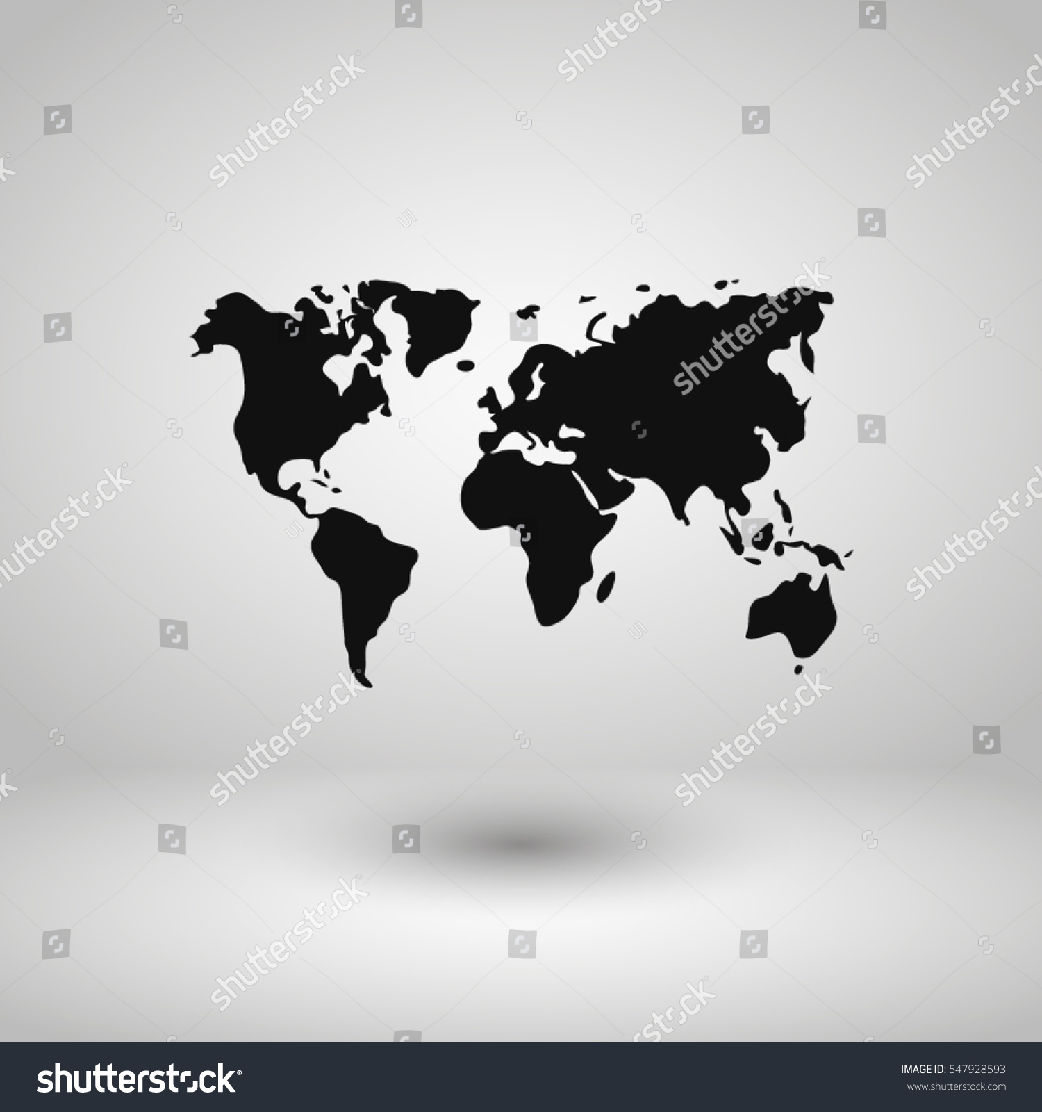 World map illustration vector vectores en stock 547928593 shutterstock world map illustration vector gumiabroncs