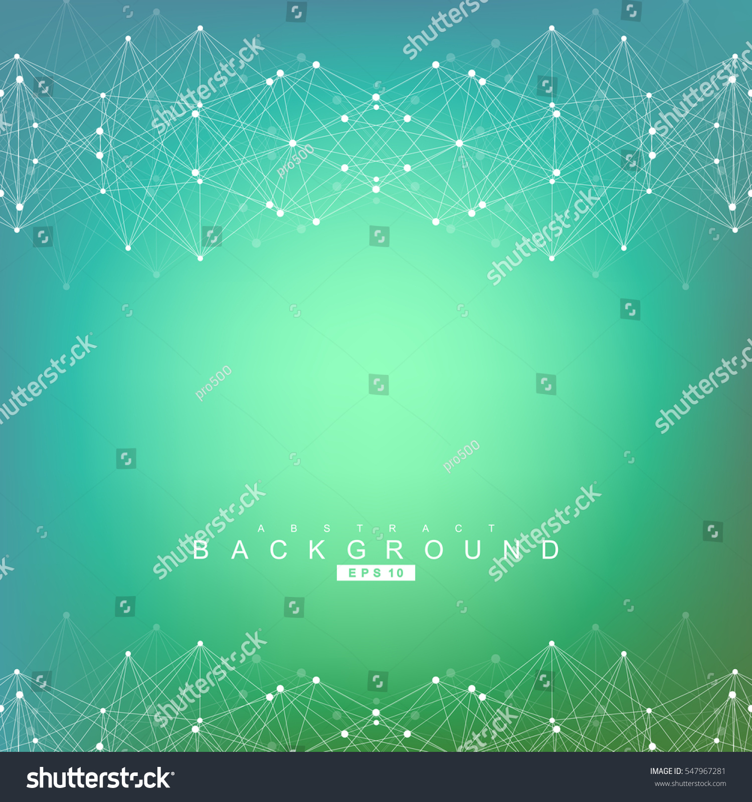 Abstract moving background white dots connected on fresh green stock - Geometric Abstract Background With Connected Line And Dots Structure Molecule And Communication Scientific Concept