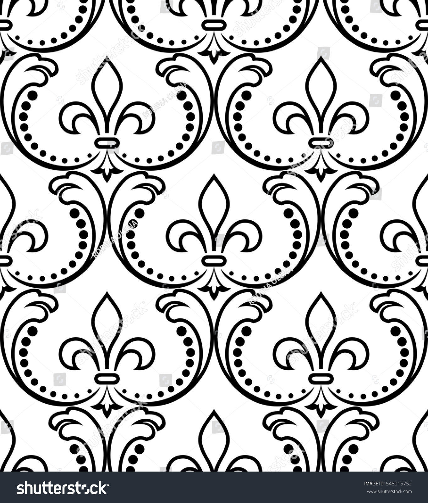 Royal wallpaper. Black flowers on a transparent background. Stylish