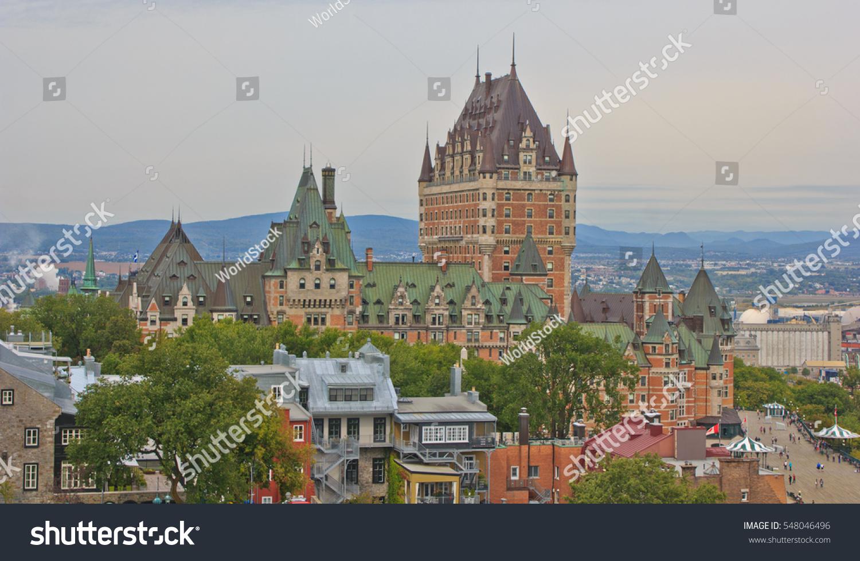 World famous fairmont le chateau frontenac stock photo for Design hotel quebec city