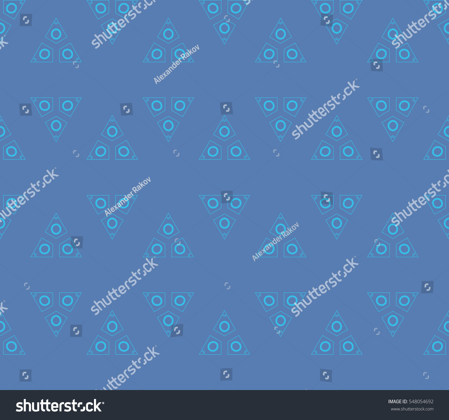 abstract seamless geometries pattern blue color stock vector