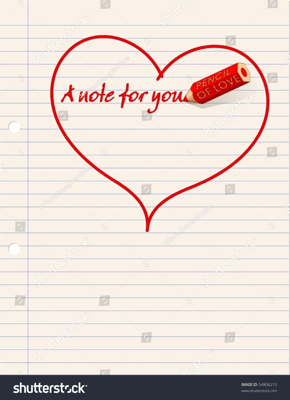 valentines all year love note retro stock illustration 54806215