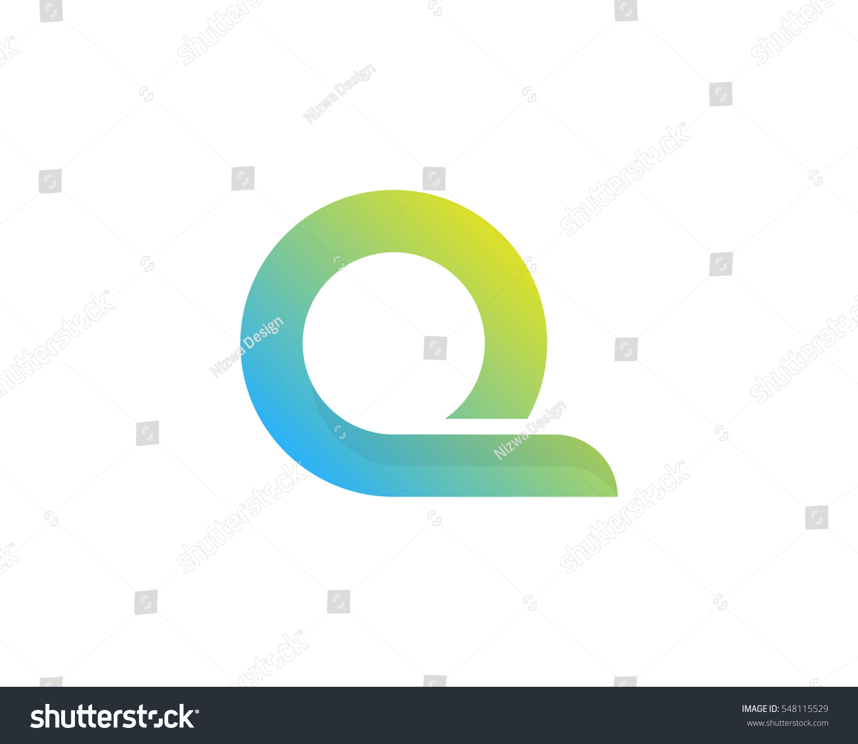 Letter Q Modern Gradient Logo Design Element