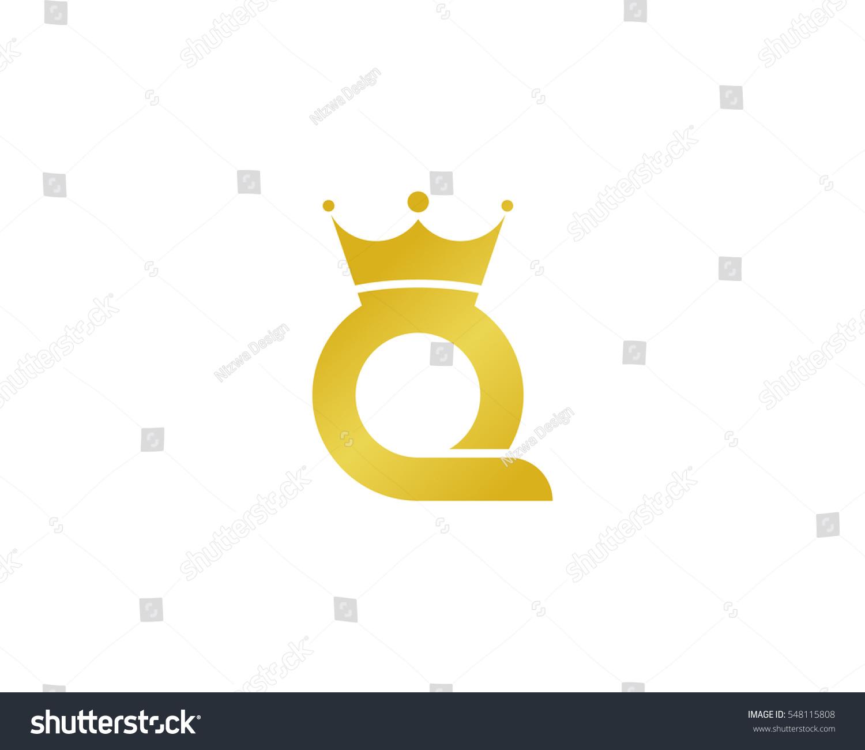 Letter N Square Shape Logo Vector Icon:  Letter Q Queen Logo Design Element Stock Vector 548115808