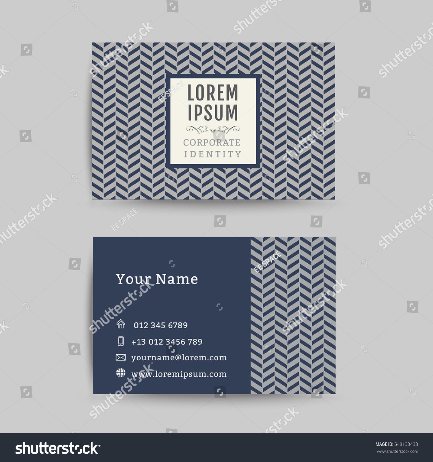 Business Card Art Deco Design Template Stock Vector 548133433 ...