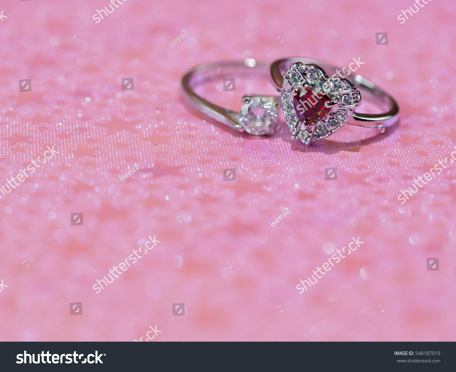 Ring On Pink Background Wedding Card Stock Photo (Safe to Use ...
