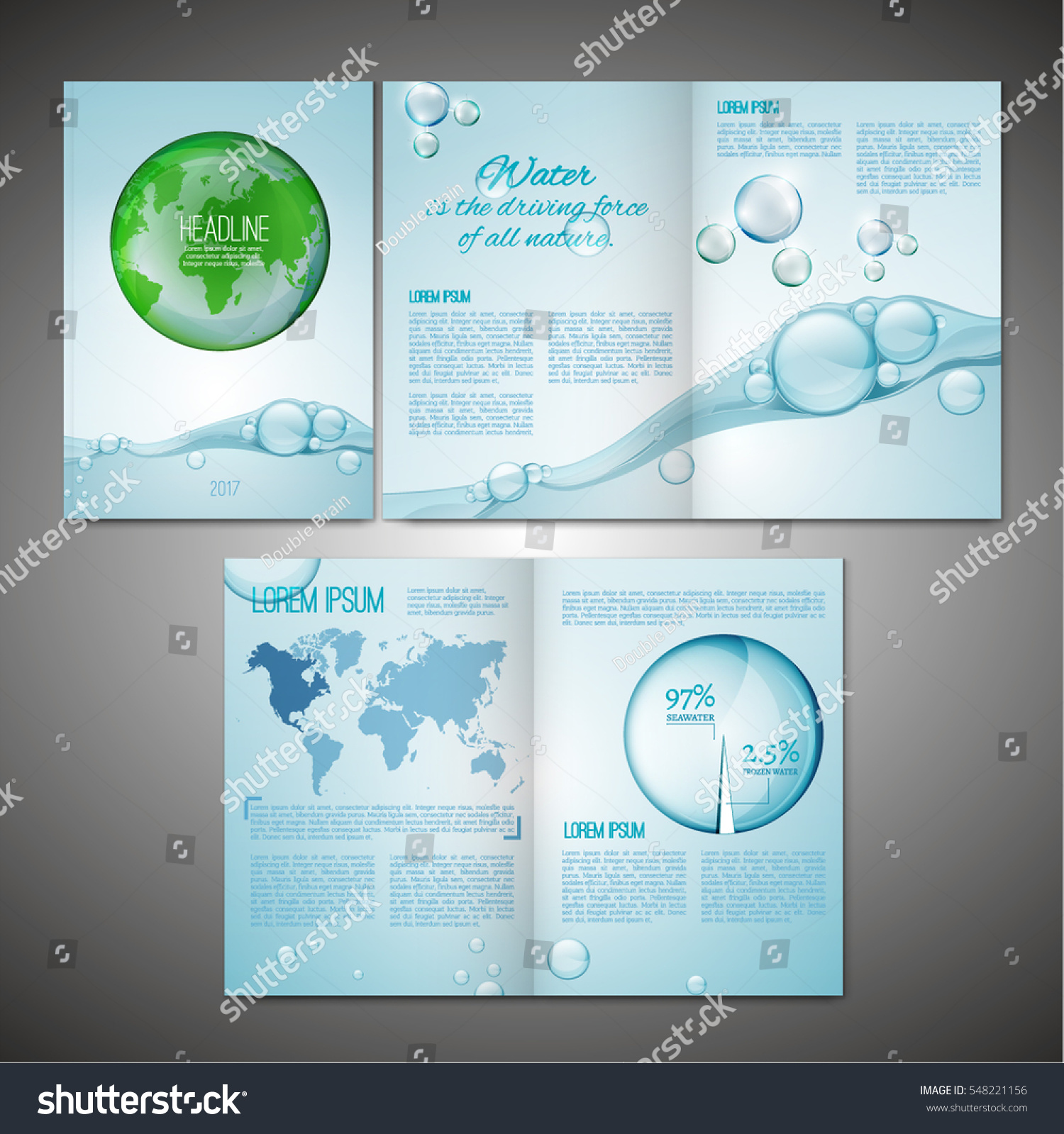 vector ecological brochure template with infographic element modern background for poster print flyer