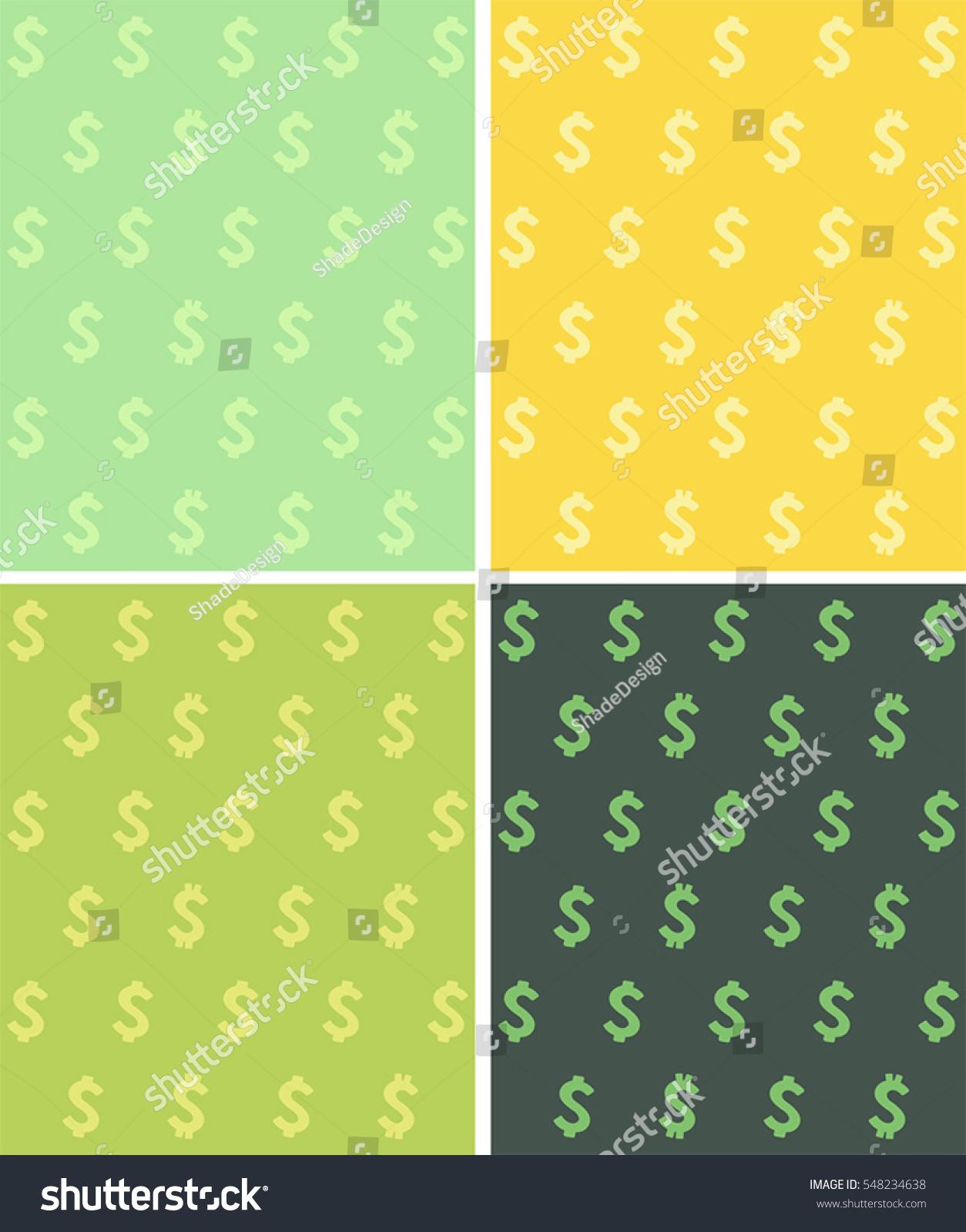 Set Seamless Textures Image Dollar Sign Stock Vector 548234638 ...