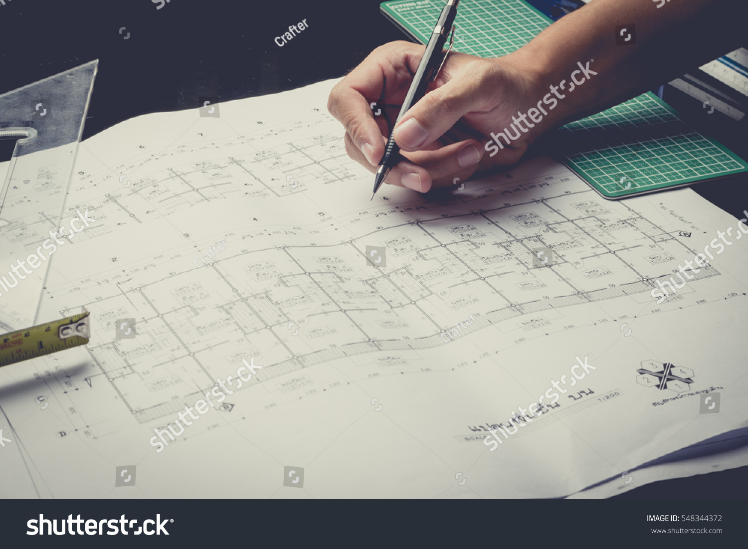 Engineering diagram blueprint paper drafting project stock photo engineering diagram blueprint paper drafting project sketch architecturalselective focusvintage filter malvernweather Image collections