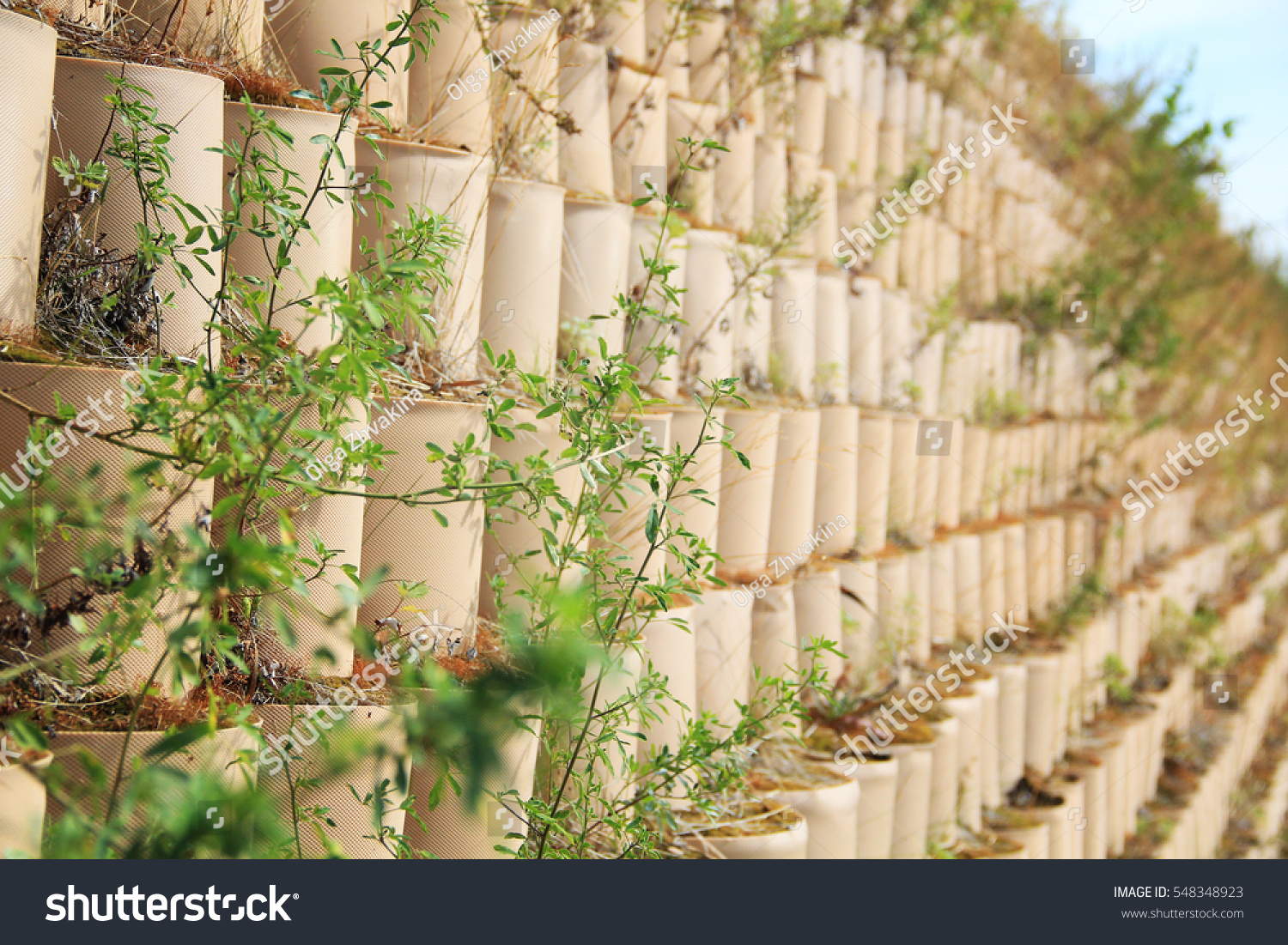 Retaining Wall Drainage Building Plants Stock Photo (Download Now ...