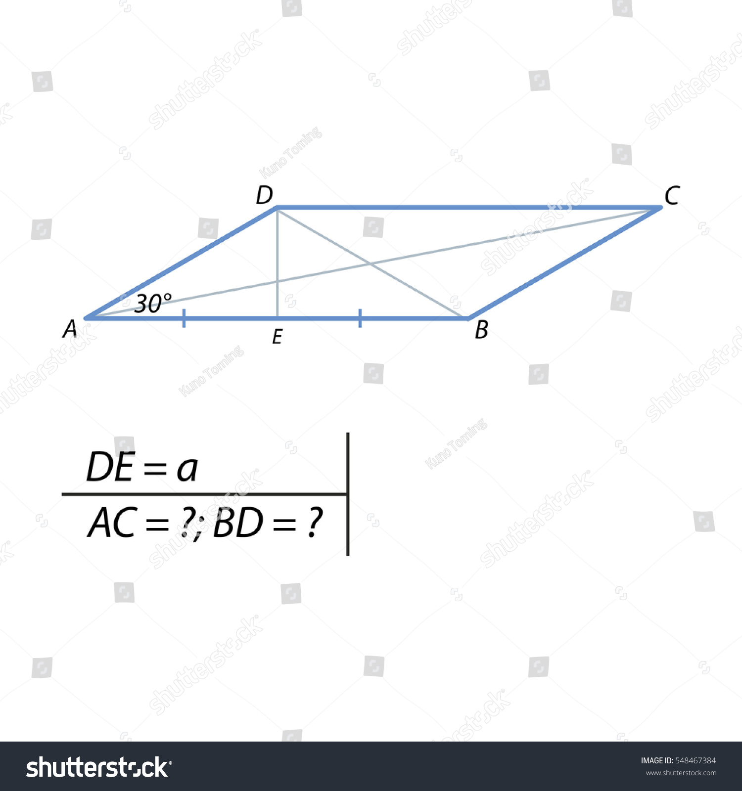 Height parallelogram drawn vertex obtuse angle stock vector the height of the parallelogram drawn from the vertex of the obtuse angle is equal to biocorpaavc Image collections