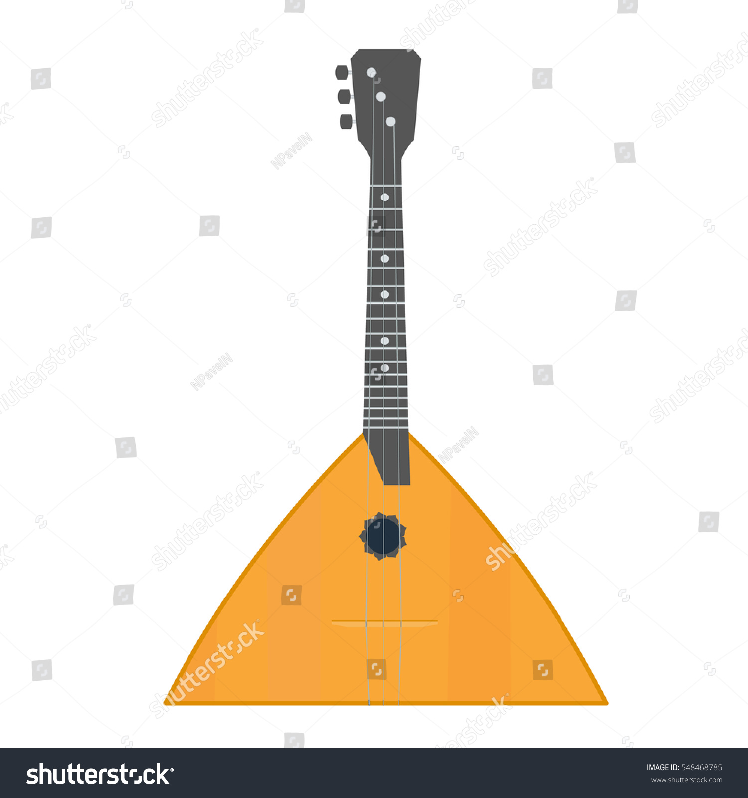 How to draw a balalaika in a pencil step by step