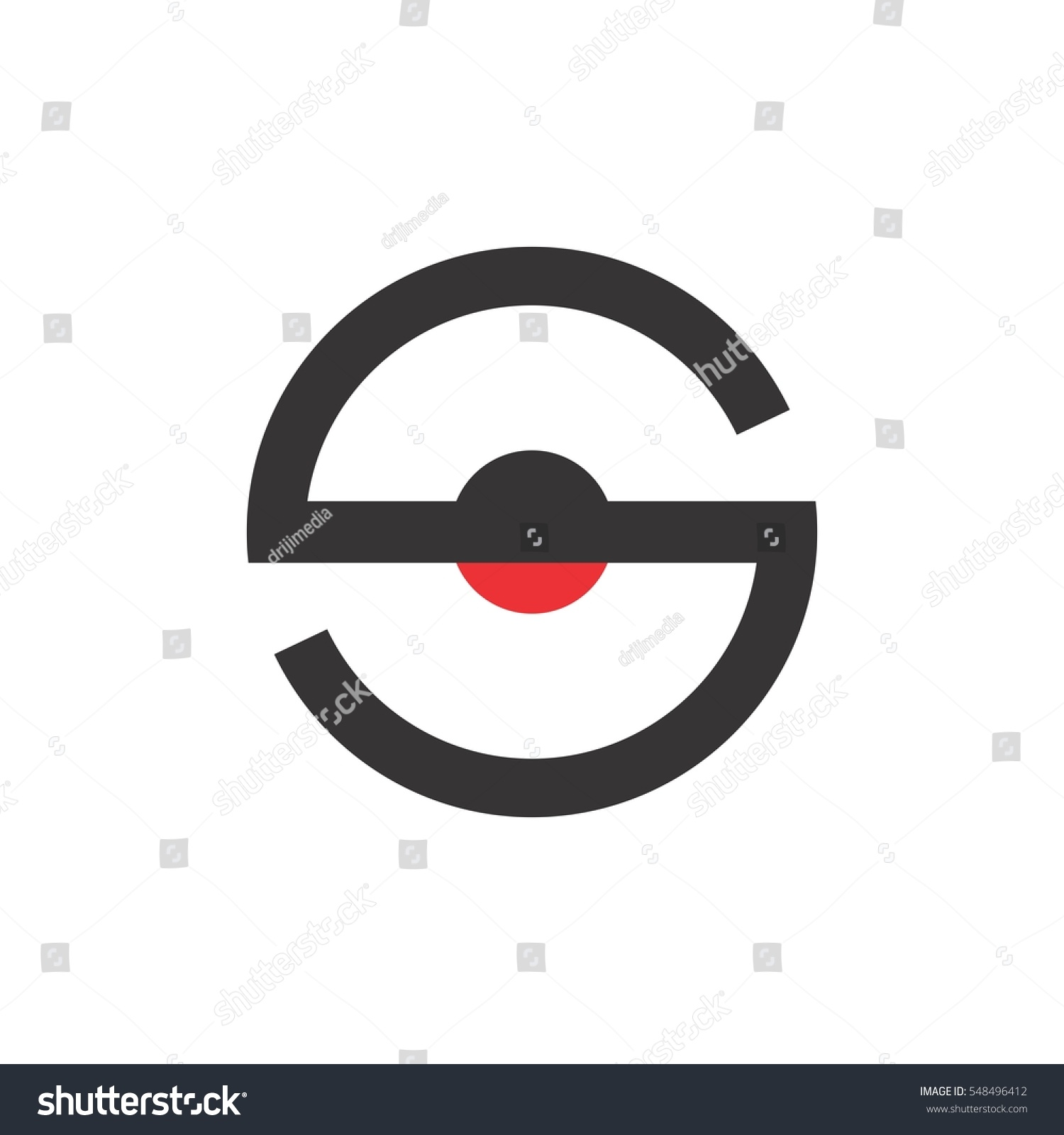 Letter s circle dot center logo stock vector 548496412 shutterstock letter s circle with dot in center logo vector buycottarizona