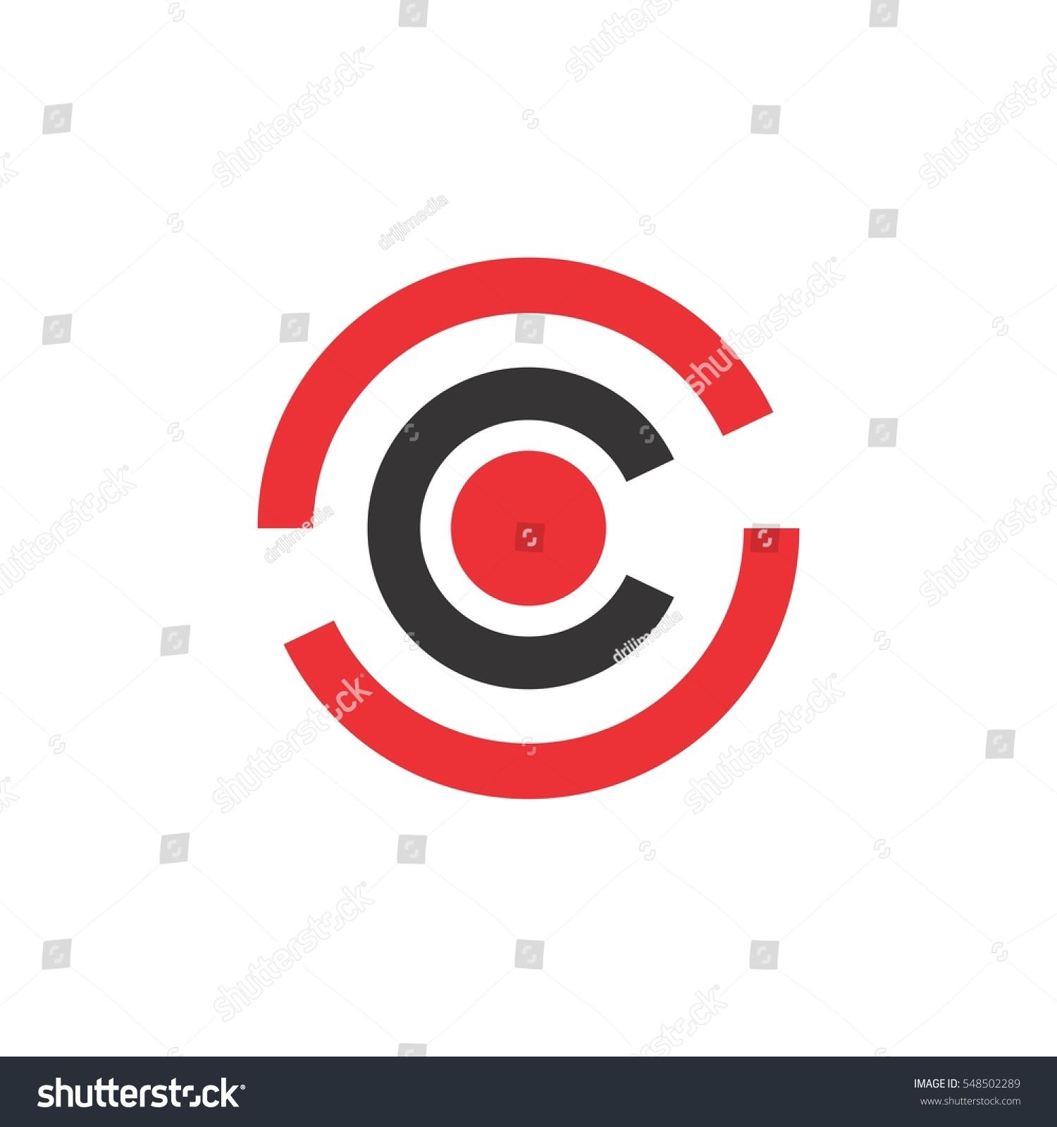 Letter c circle dot center logo stock vector 548502289 shutterstock letter c in circle with dot in center logo vector biocorpaavc Images