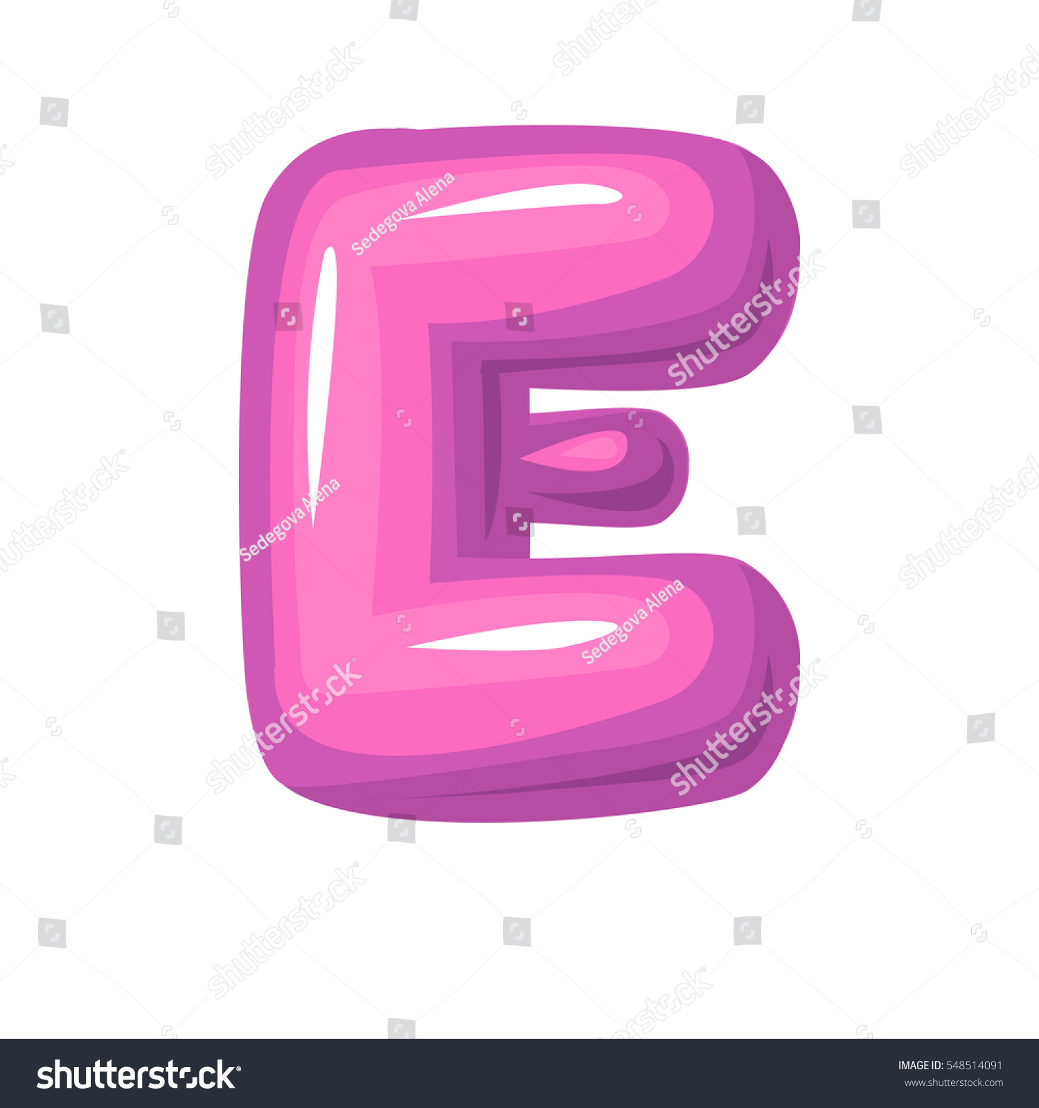 Pink Letter E Bubble Bold E Stock Vector (Royalty Free) 548514091 ...