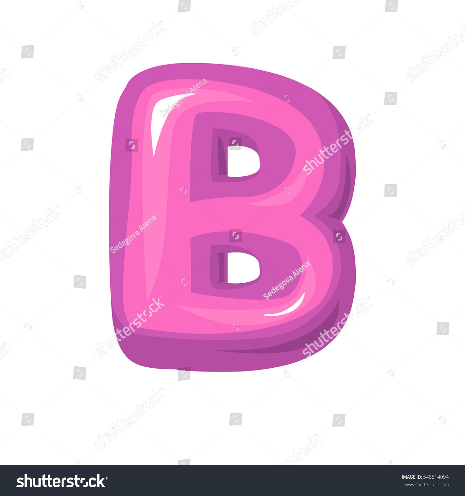 Pink Letter B Bubble Bold B Stock Vector (Royalty Free) 548514094 ...