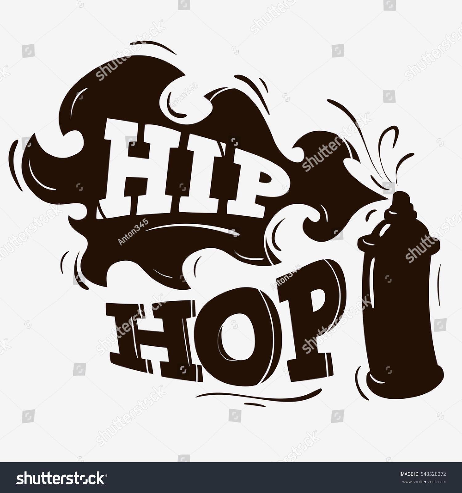 Hip Hop Label Design Spray Balloon Stock Vector 548528272 ...