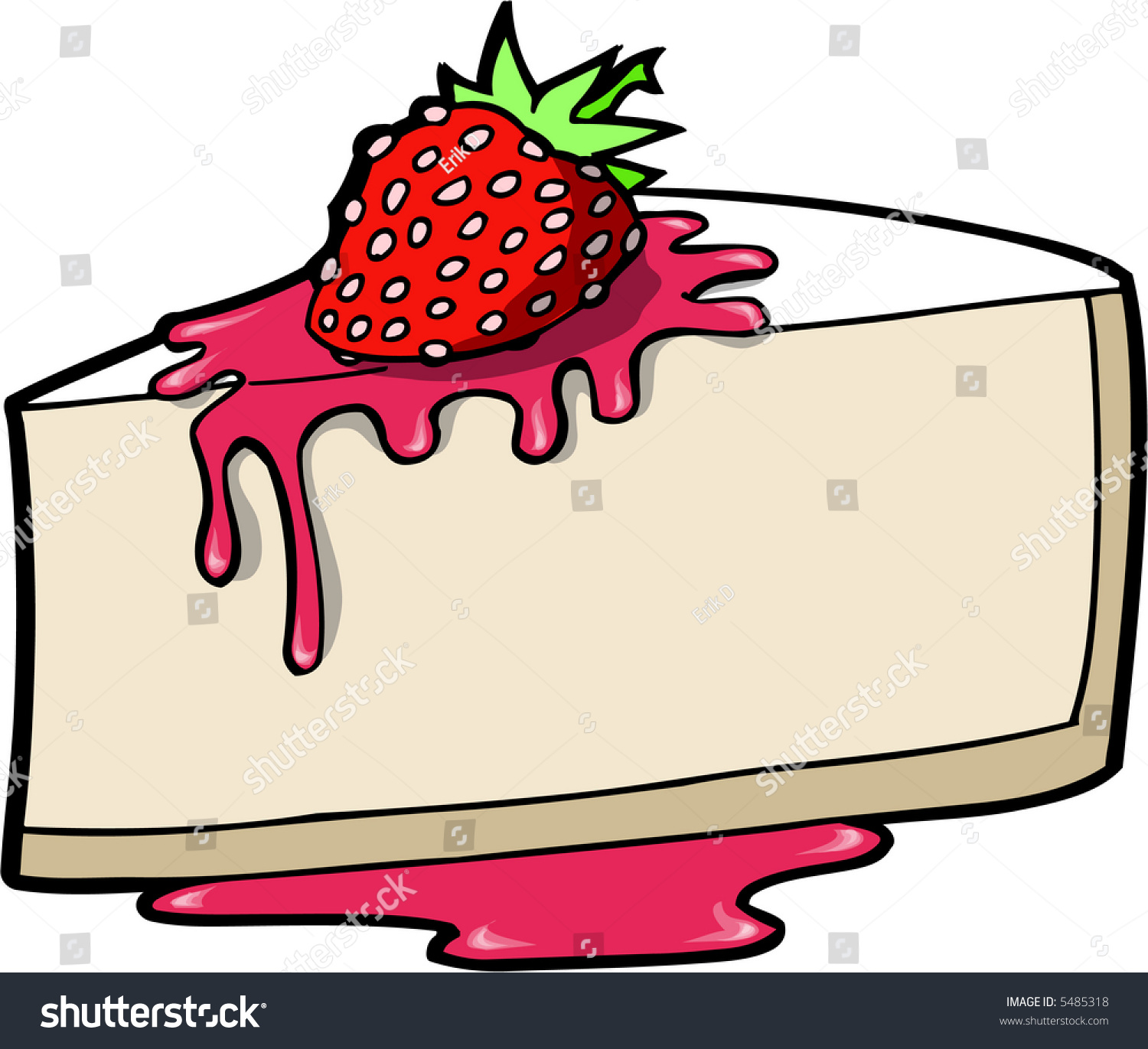 Cheesecake Images Clip Art : Cheese Cake Vector Illustration - 5485318 : Shutterstock
