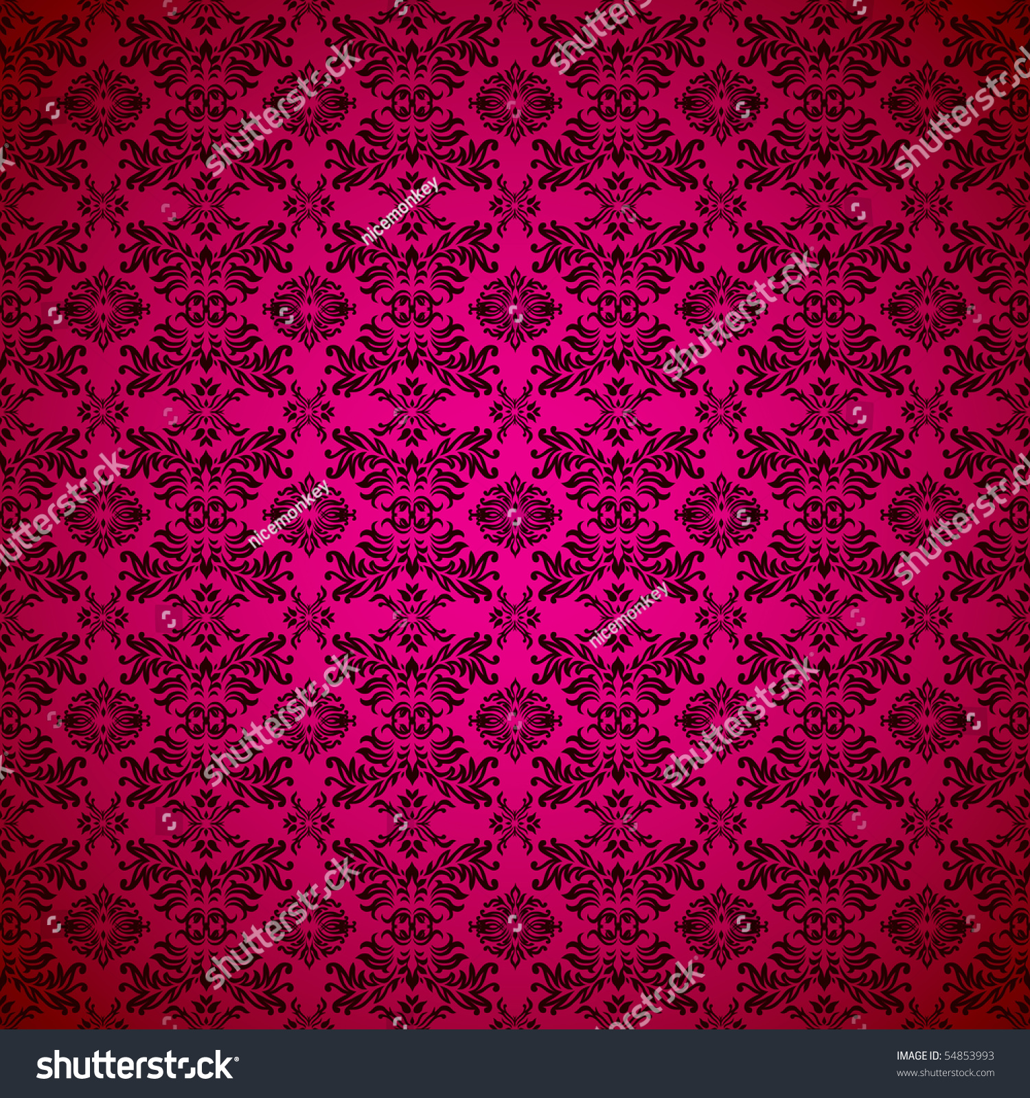 Pink Seamless Wallpaper Abstract Design Background Stock