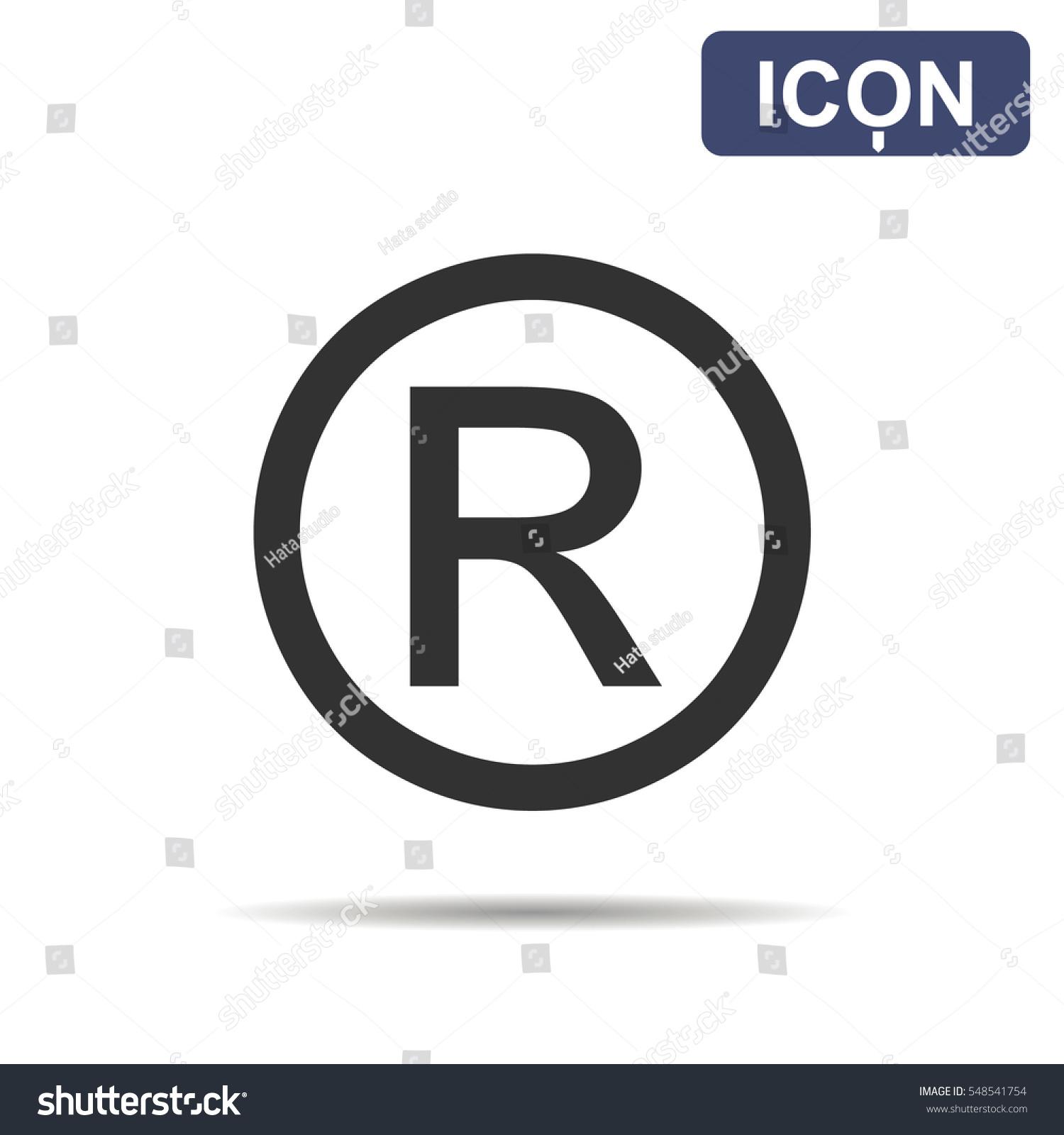 Registered Trademark Symbol Isolated On White Stock Vector Royalty