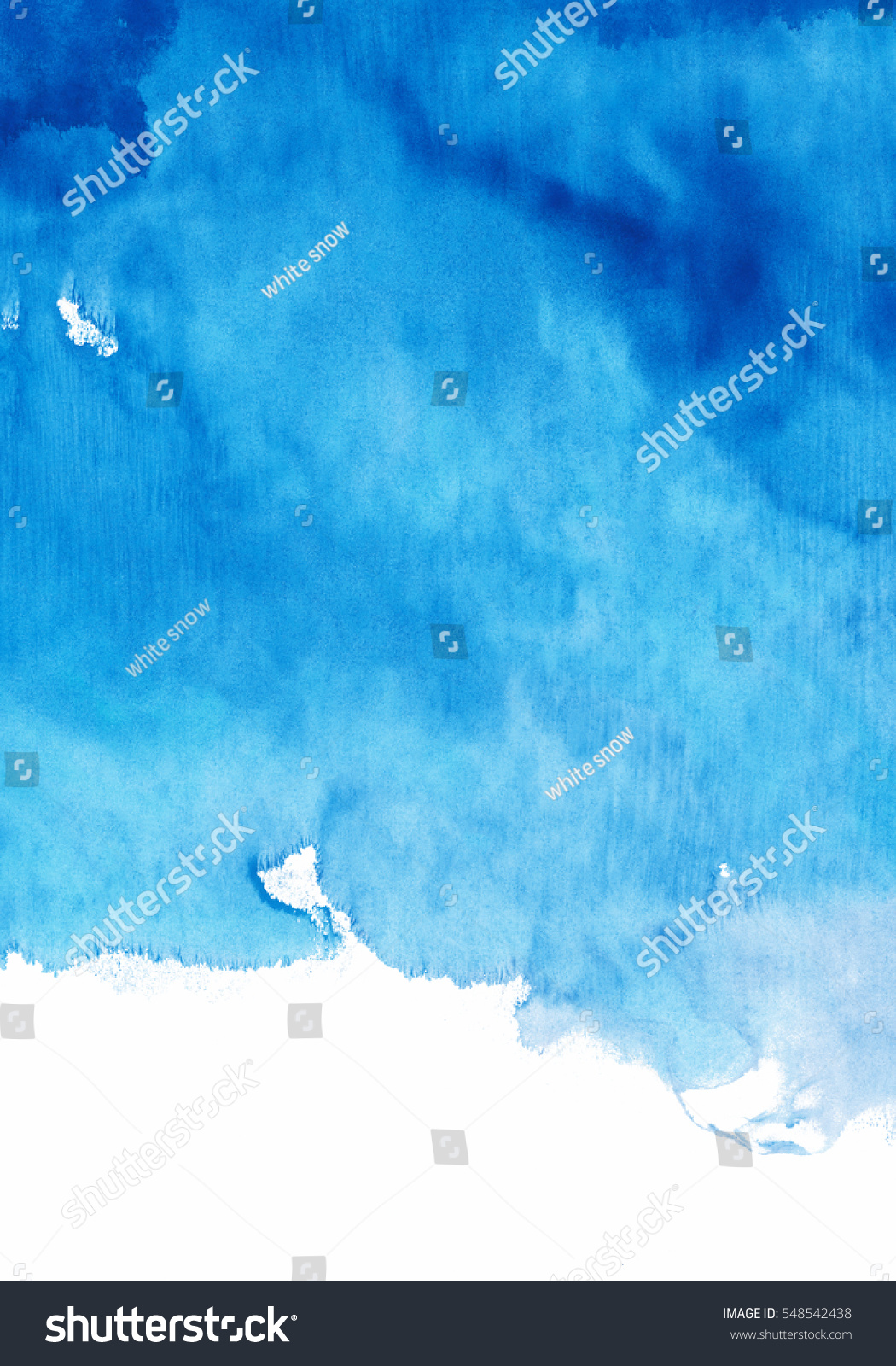 Shades Of Blue Paint Blue Watercolor Background Shades Blue Stock Illustration