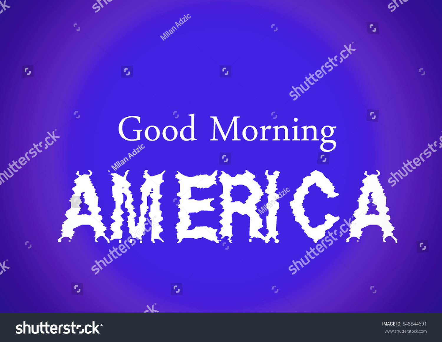 Good Morning America Quotes Images : Good morning america purple background white stock
