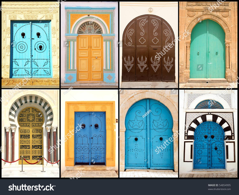 set of beautiful decorative doors of tunisia africa - Decorative Doors