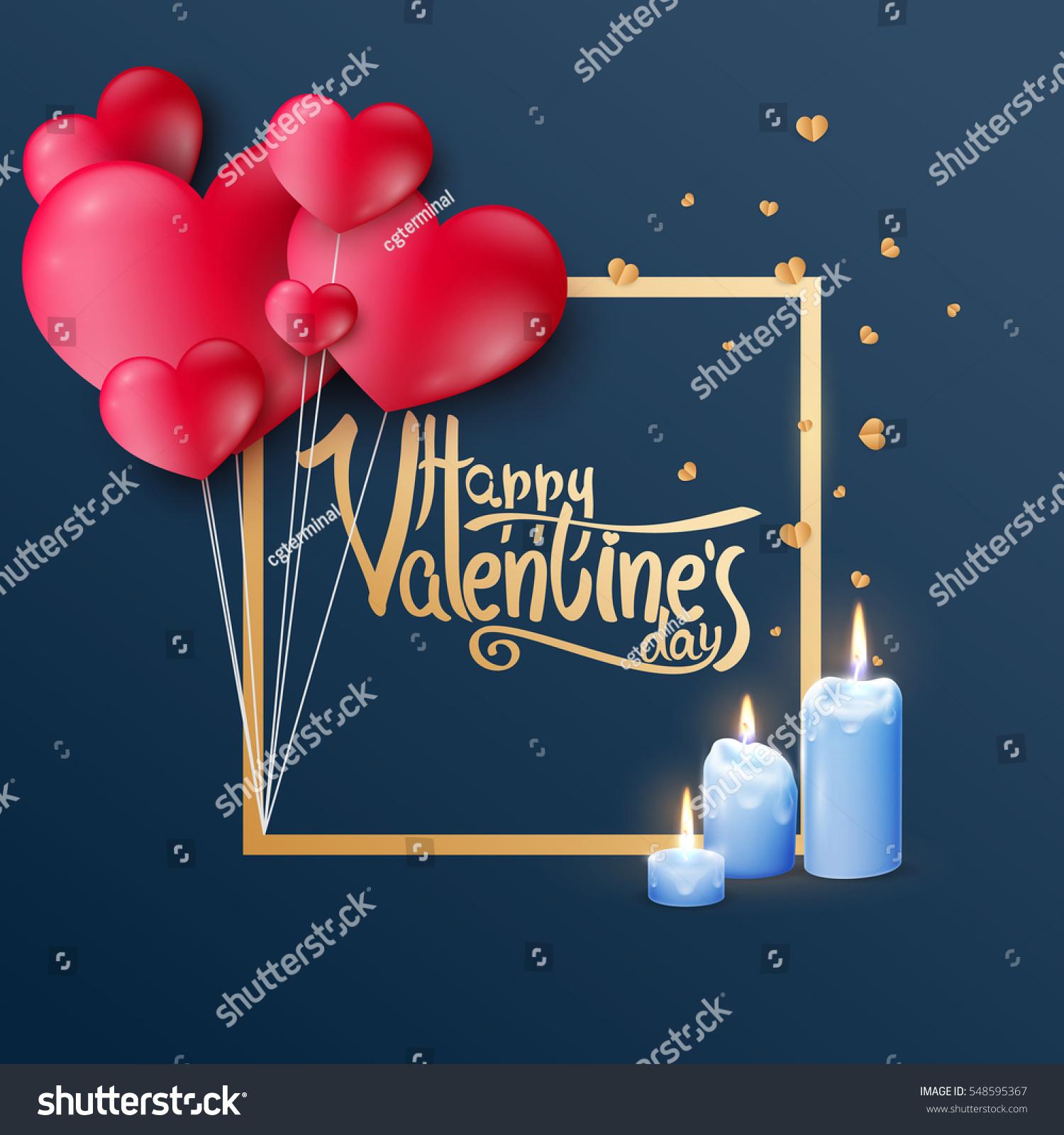 Vector Luxury Premium Template Valentines Day Stock Vector