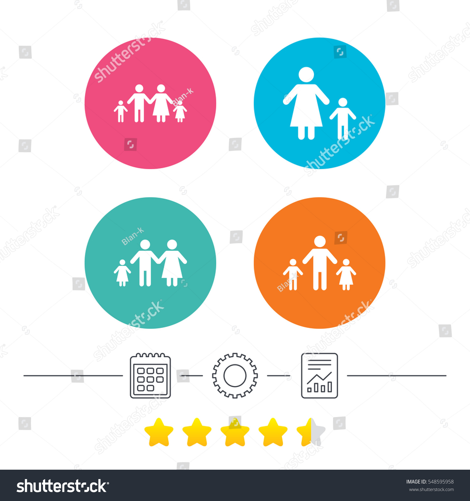 Family two children icon parents kids stock illustration 548595958 family with two children icon parents and kids symbols one parent family signs buycottarizona