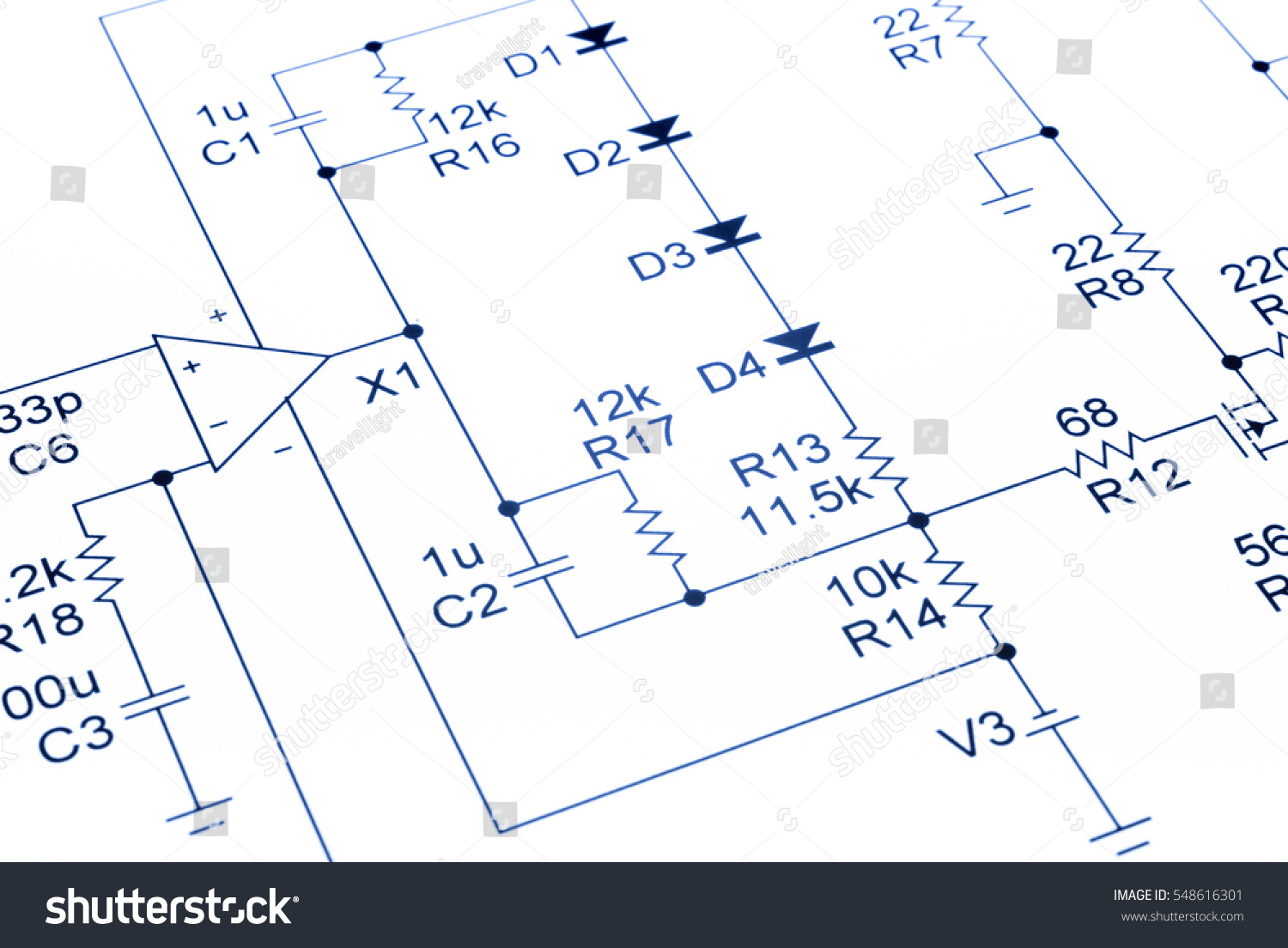 Electronic Circuit Diagram Free Introduction To Electrical Wiring Software Circuits Blue Our Own Stock Photo Royalty Rh Shutterstock Com