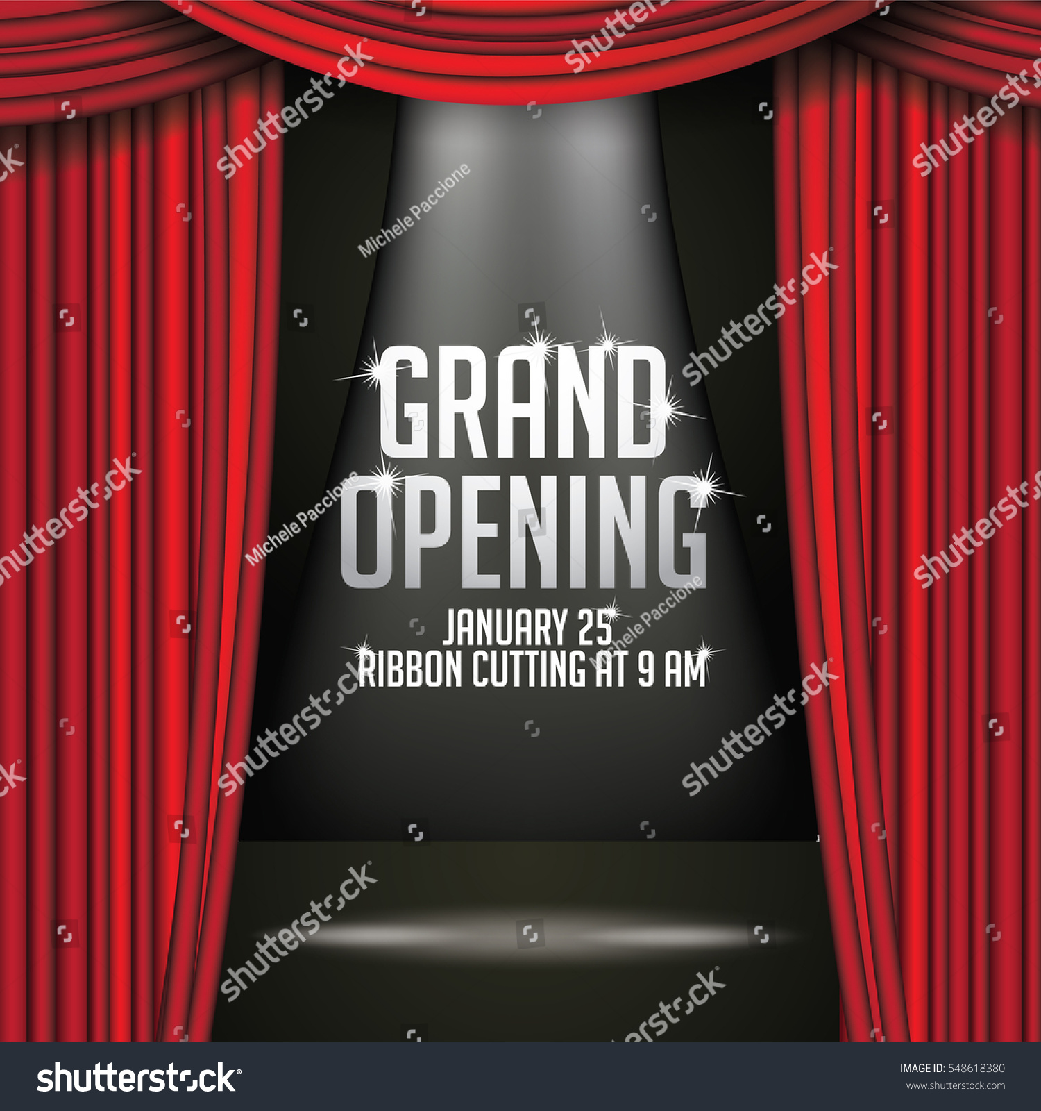 Stage curtain background open stage curtains background red stage - Luxurious Red Curtains Background Template Grand Opening Announcement With Dramatic Movie Or Stage Curtains