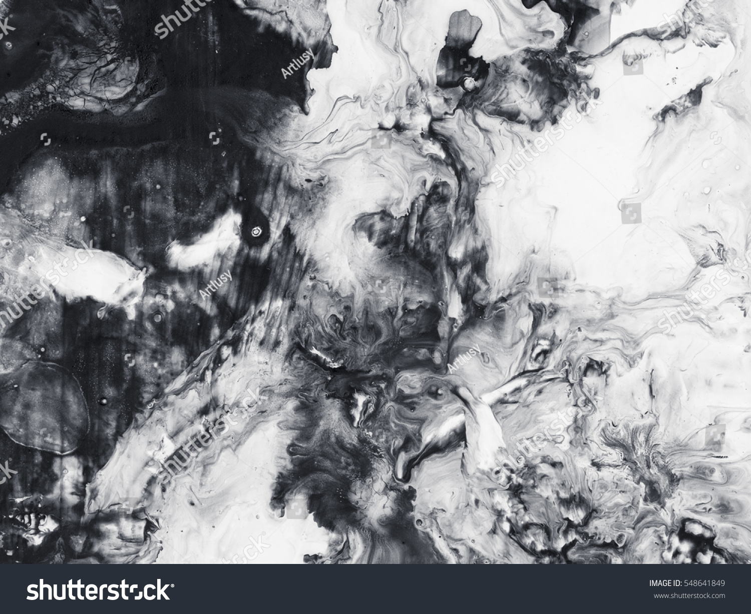 Abstract hand painted black white background stock photo for Acrylic painting on black background