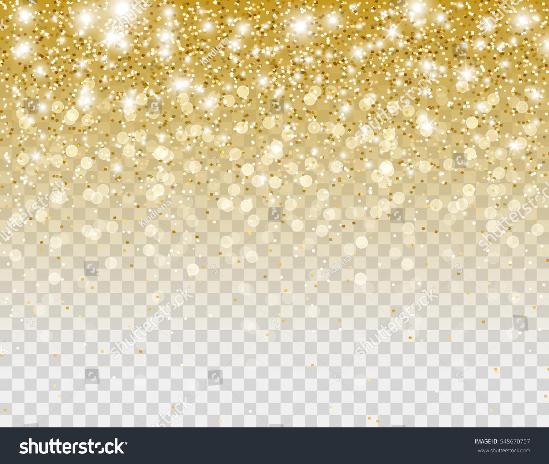 Glitter gold falling