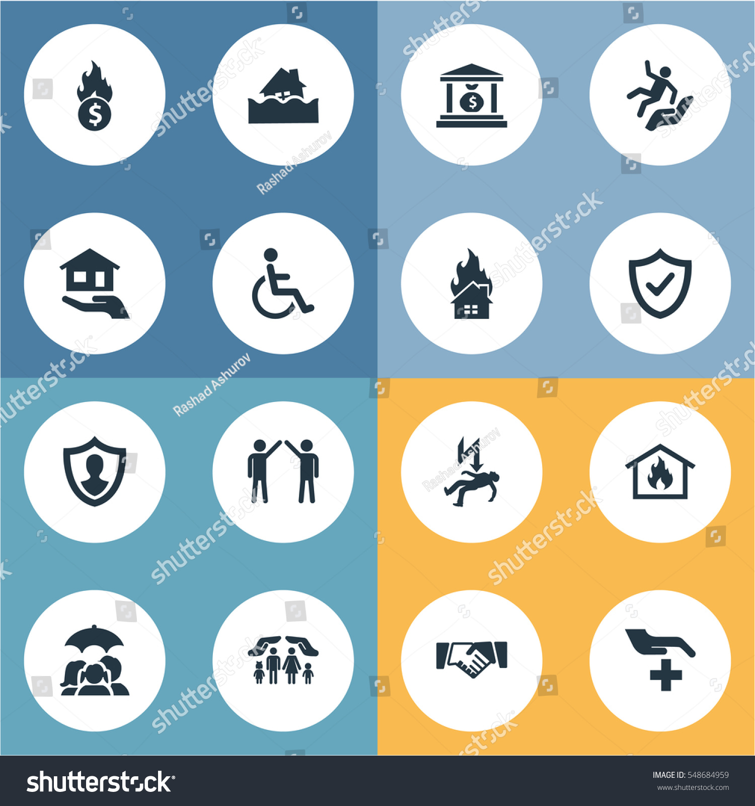 Set 16 Simple Guarantee Icons Can Stock Illustration 548684959 ...