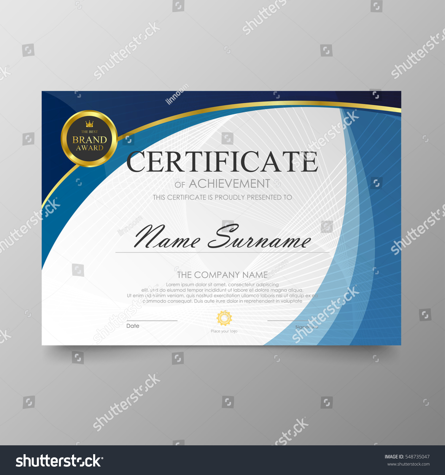 certificate template awards diploma background vector のベクター