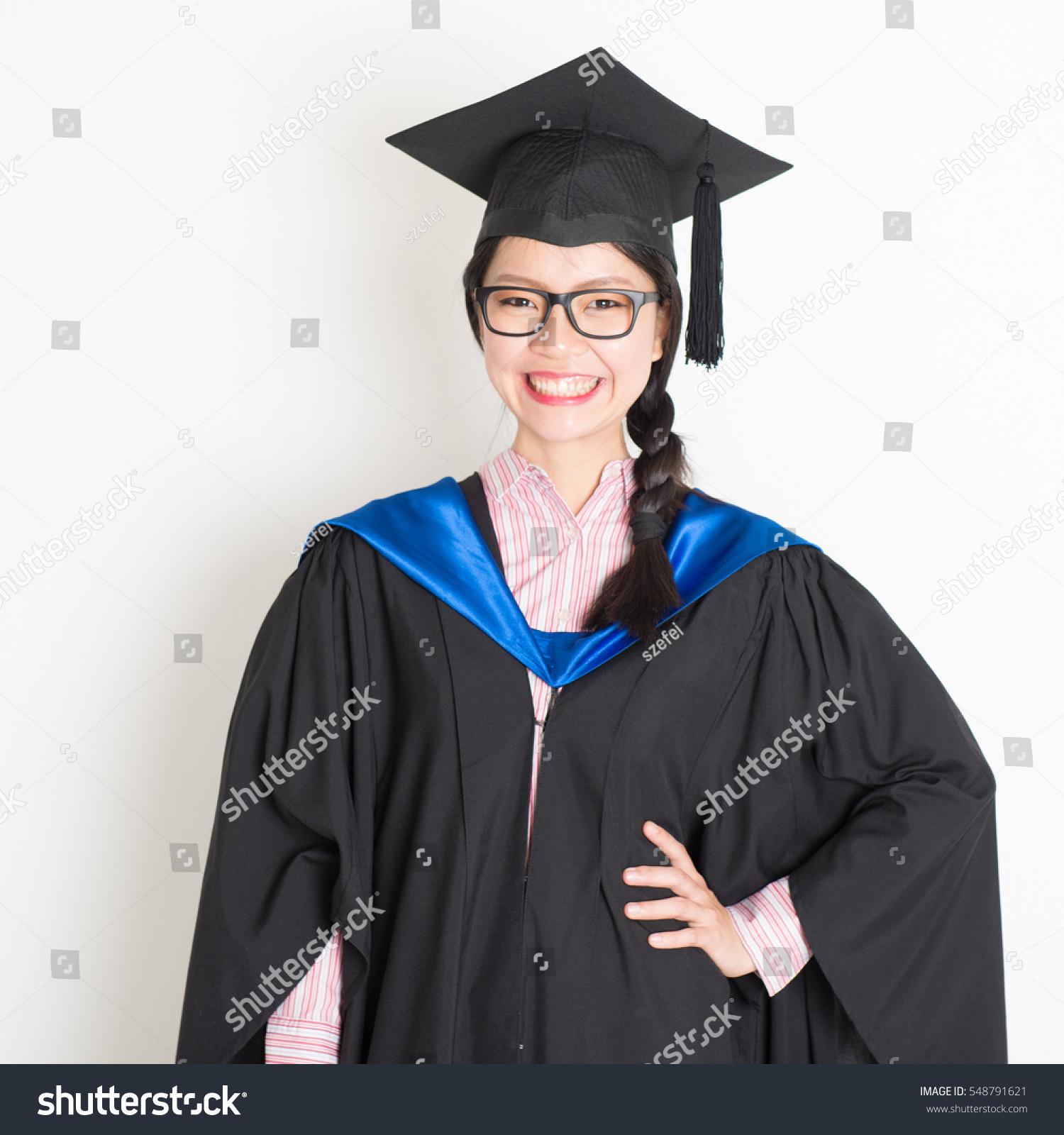 University Student Graduation Gown Cap Portrait Stock Photo (Edit ...