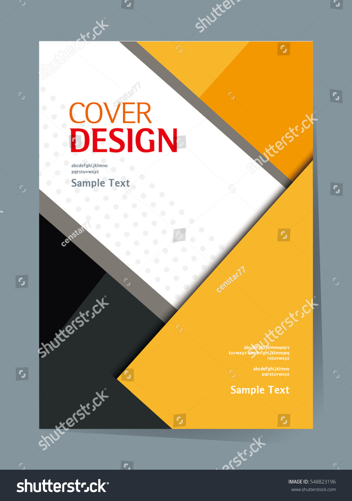 Cookbook Cover Vector : Book cover design vector template a stock