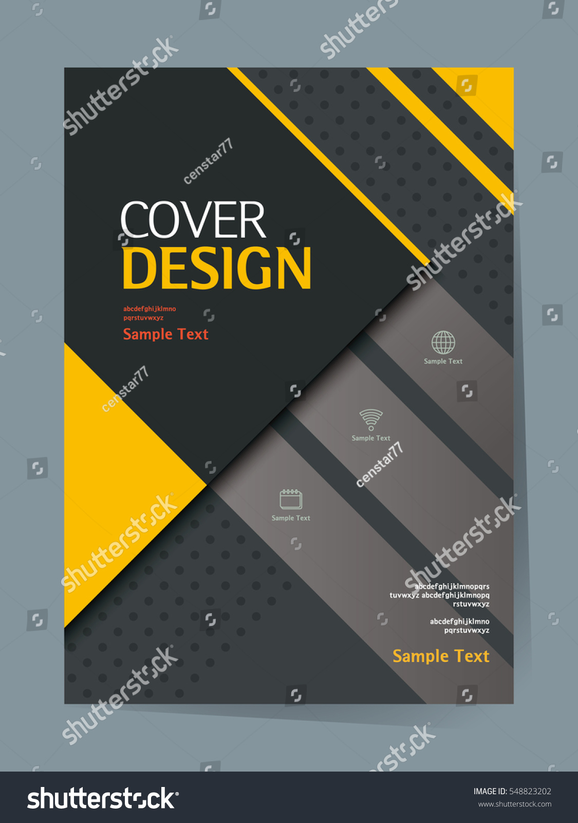Simple Book Cover Template : Book cover design vector template a stock