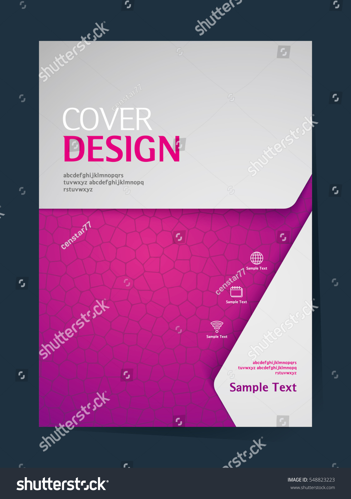 Cover Book Brochure Layout Vector ~ Book cover design vector template a stock