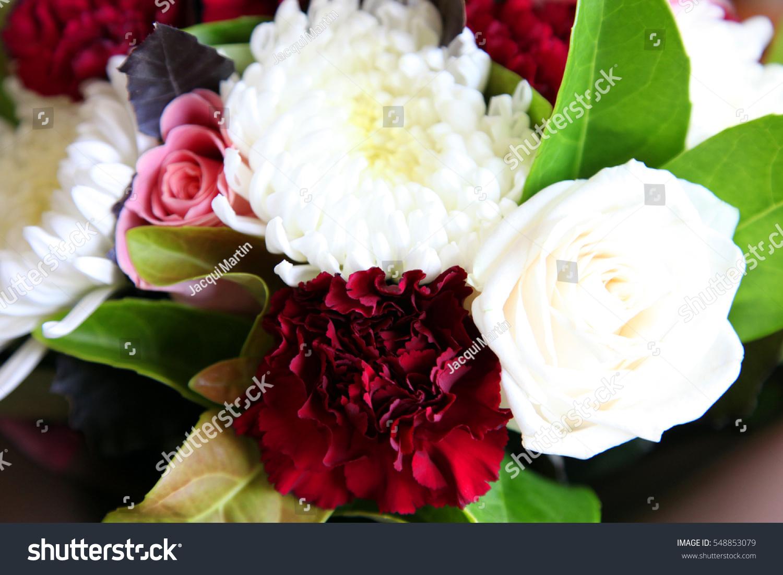 Beautiful Chrysanthemum Carnations Flower Bouquet Stock Photo Edit