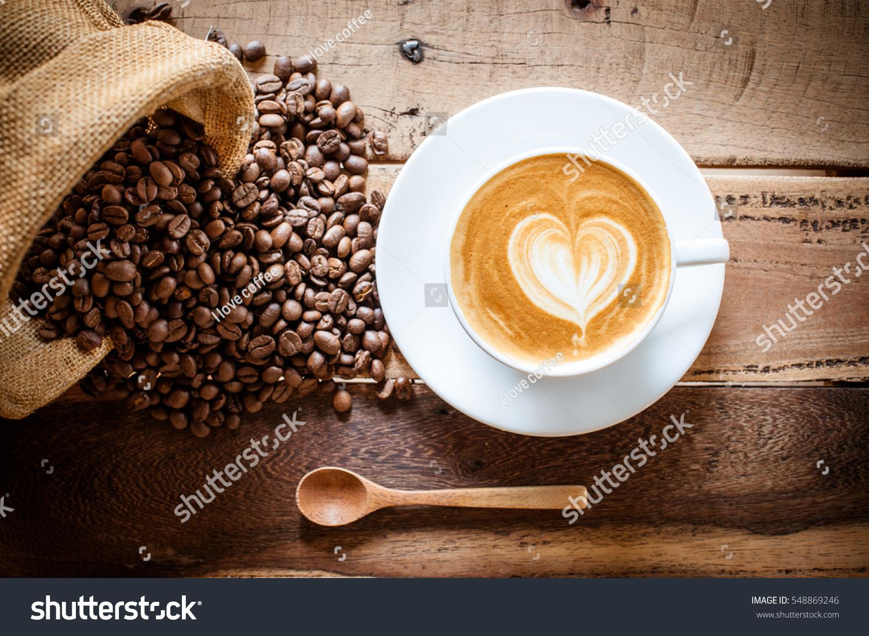 Coffee Latte Coffee Beans Stock Photo 548869246 - Shutterstock