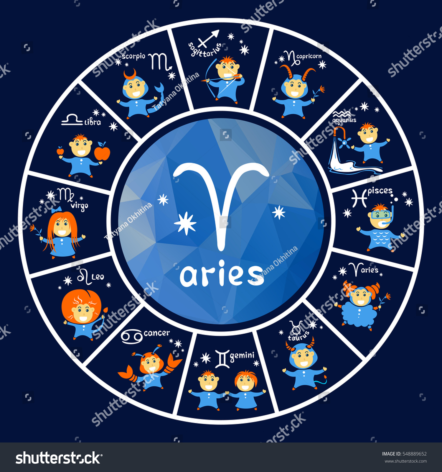 Calendar Design Zodiac : Zodiac signs vector set isolated on stock
