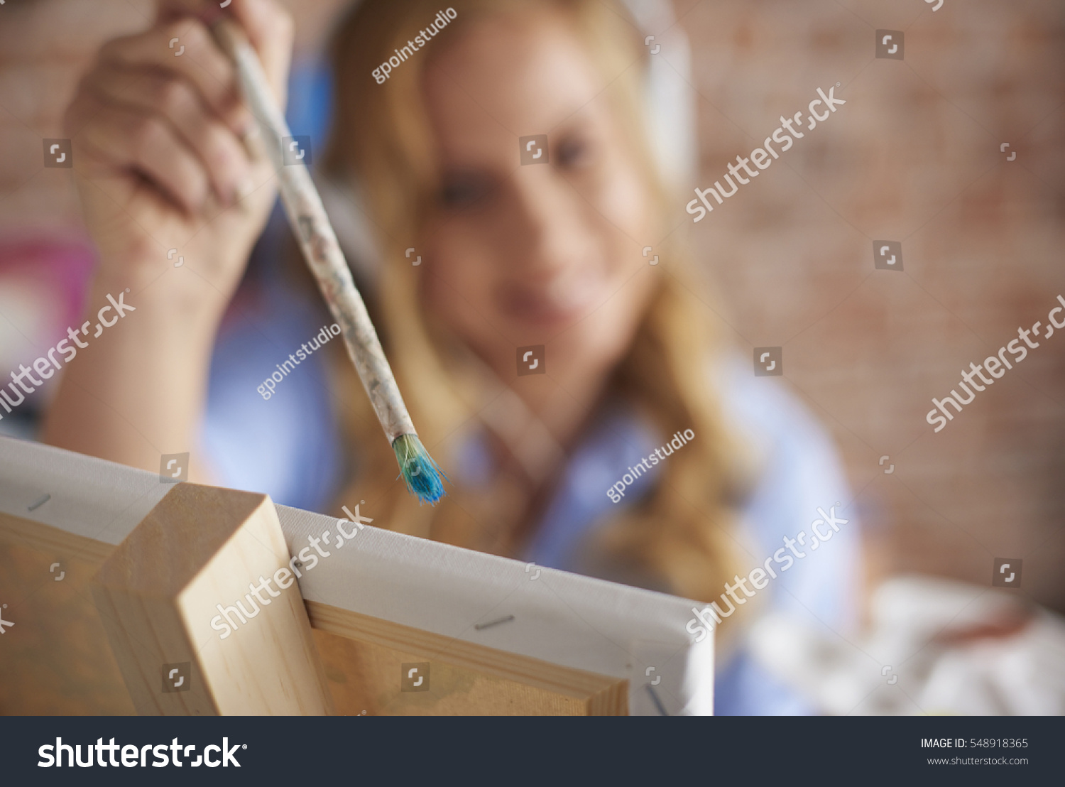 Adding Her Personal Touch Picture Stock Photo 548918365 - Shutterstock