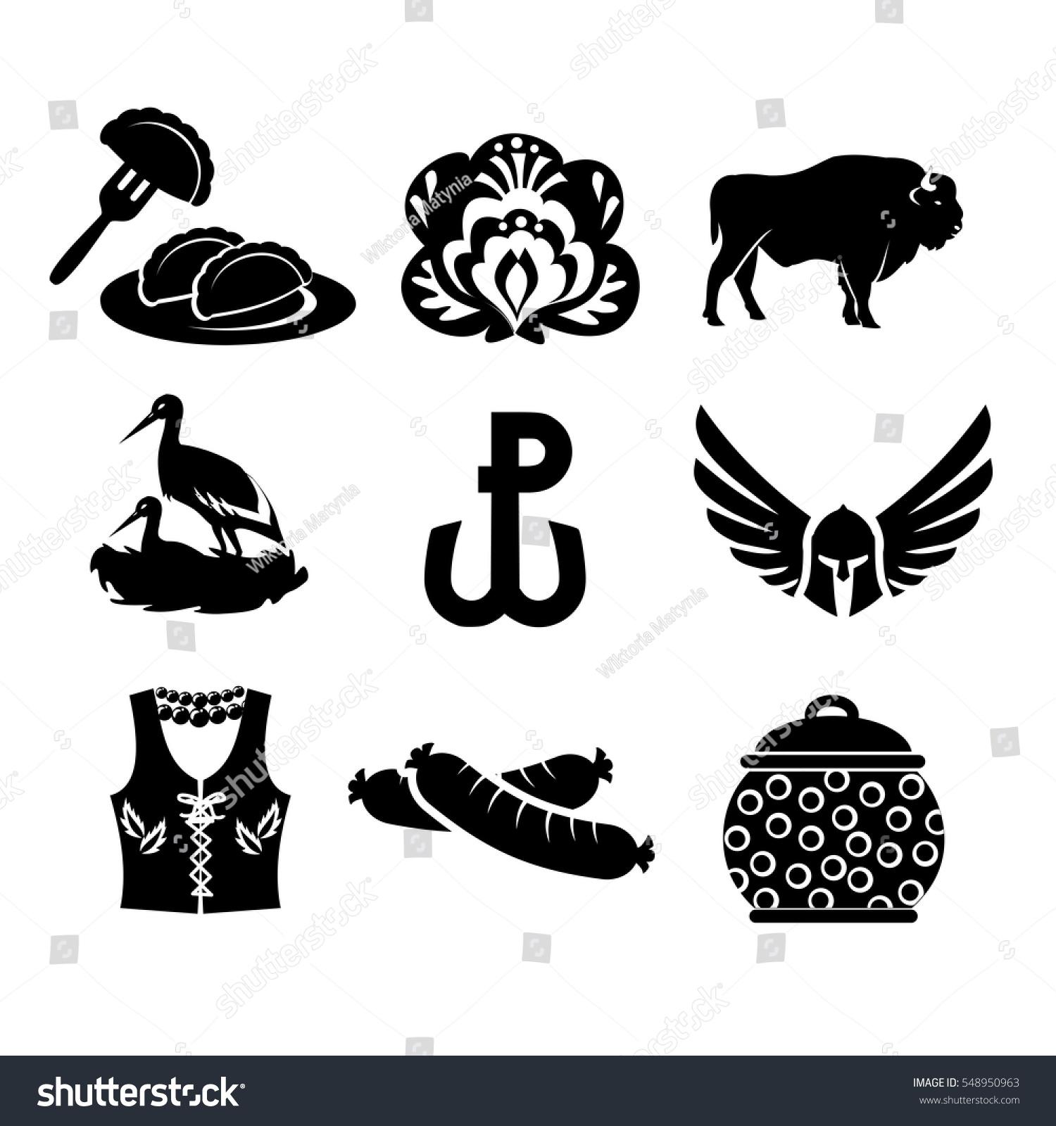 National symbols poland vector icon set stock vector 548950963 national symbols of poland vector icon set biocorpaavc