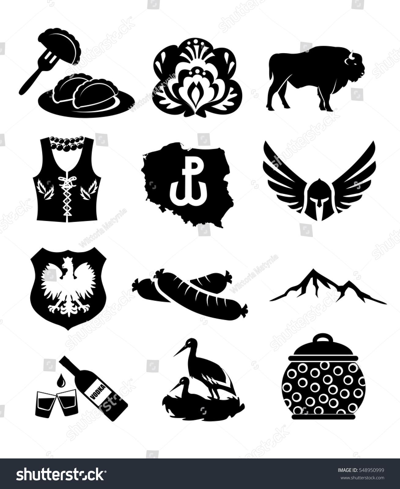 National symbols poland vector icon set stock vector 548950999 national symbols of poland vector icon set biocorpaavc