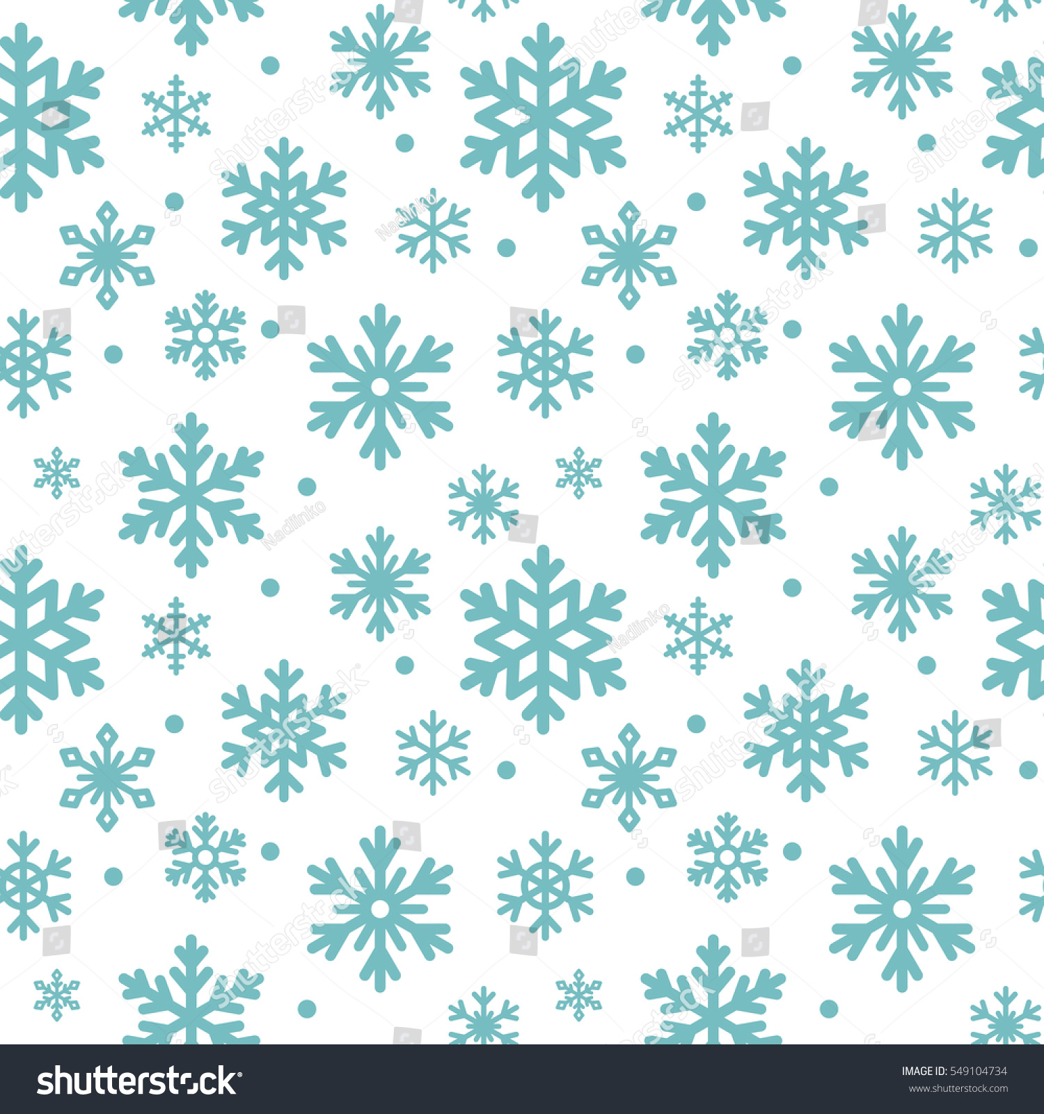 seamless pattern winter snowflakes vector background stock vector