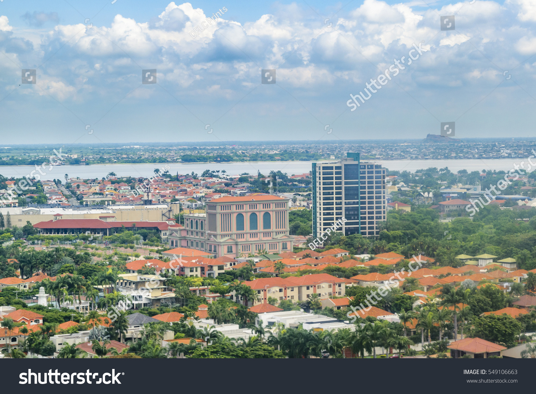 Aerial View Capital Ecuador Guayaquil Window Stock Photo - Capital of ecuador