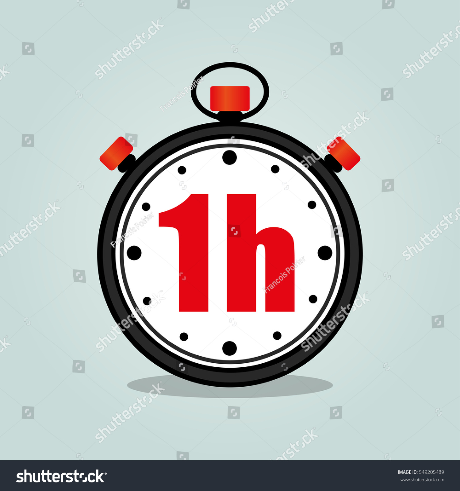 illustration one hour stopwatch isolated icon stock vector
