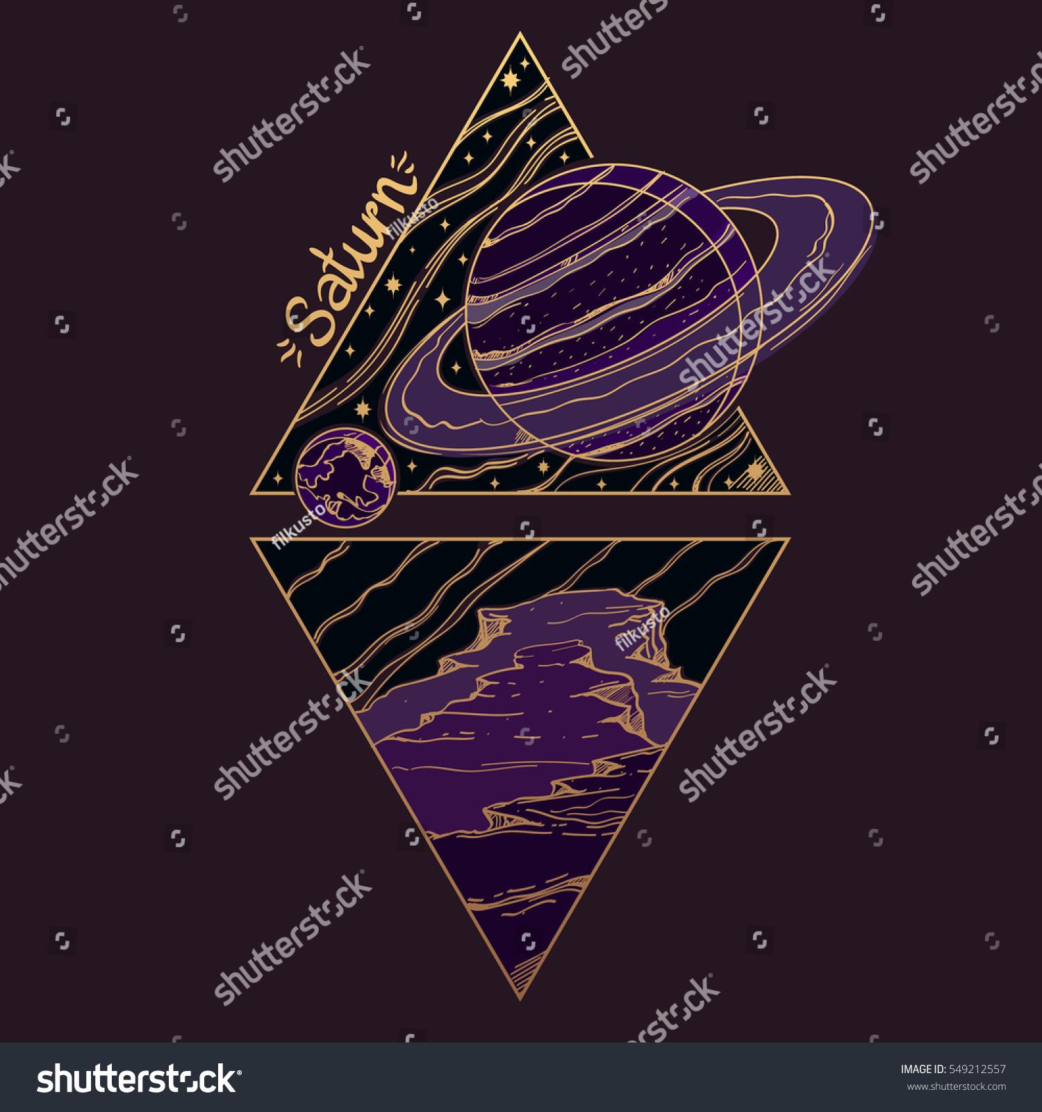 Saturn planets stars solar system symbols stock vector 549212557 planets and stars of solar system symbols for astronomy and astrology stylized buycottarizona